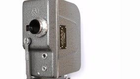 Oude Hand - gehouden Spoelfilm Camera_3 stock video