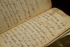 Oude hand het schrijven Royalty-vrije Stock Afbeelding