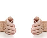 Oude handen Stock Foto
