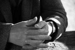 Oude handen Stock Fotografie