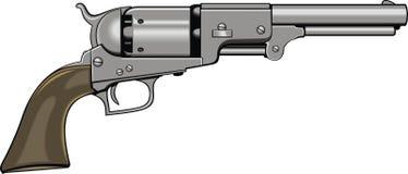 Oude handkanon (pistool) stock illustratie