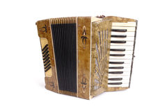 Oude harmonika Royalty-vrije Stock Foto