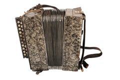 Oude harmonika Royalty-vrije Stock Foto's