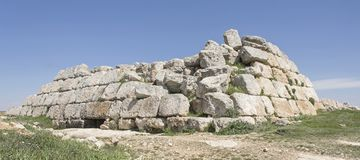Oude Hasmonean-Vesting dichtbij Susya in Cisjordanië royalty-vrije stock afbeeldingen