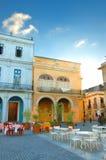 Oude Havana koffie stock foto's