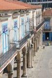 Oude Havana Street in Cuba Royalty-vrije Stock Afbeeldingen