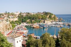 Oude haven in Antalya Royalty-vrije Stock Afbeelding