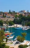 Oude haven in Antalya, Turkije Stock Fotografie
