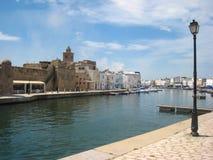 Oude haven. Bizerte. Tunesië stock afbeelding