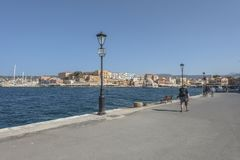 Oude haven in Chania Stock Afbeelding
