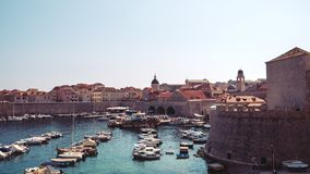 Oude Haven in Dubrovnik stock foto's