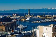 Oude haven, Genua stock foto