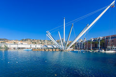 Oude haven, Genua stock foto's