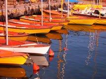 Oude haven Jaffa - roeienpost. Royalty-vrije Stock Afbeeldingen