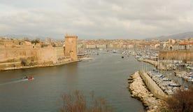 Oude haven in Marseille, Frankrijk Stock Afbeelding