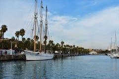 Oude Haven van Barcelona Mooie boot Royalty-vrije Stock Foto