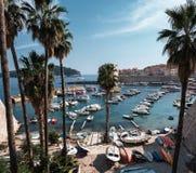 Oude haven van Dubrovnik stock foto