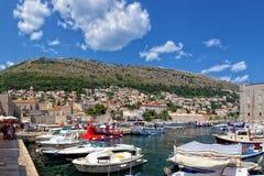 Oude haven van Dubrovnik, Kroatië Stock Fotografie