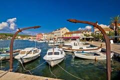 Oude haven van het eiland van Stari Grad Hvar Royalty-vrije Stock Foto