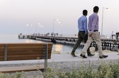 Oude Havenpijler, Limassol, Cyprus Stock Fotografie