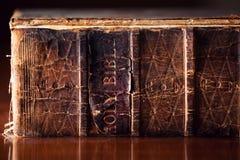 Oude Heilige Bijbel Dichte Omhooggaand Royalty-vrije Stock Fotografie
