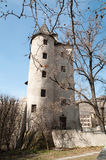 Oude Heksentoren in Sion, Zwitserland Stock Fotografie