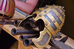 Oude helm royalty-vrije stock afbeeldingen