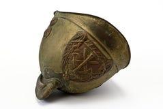 Oude helm voor brandweerman Royalty-vrije Stock Afbeeldingen