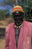 Oude herder Turkana (Kenia) royalty-vrije stock afbeelding
