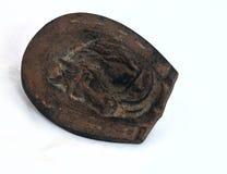 Oude het Asbakje van het brons Stock Foto's