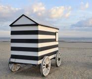 Oude het baden hut op wielen Stock Foto