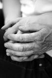 Oude het bidden handen Stock Afbeelding