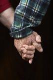 Oude het bidden handen Royalty-vrije Stock Afbeeldingen