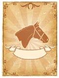 Oude het document van de cowboy achtergrond Stock Afbeeldingen