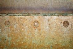 Oude het ijzerachtergrond van de lassennaad Stock Foto