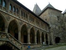 Oude het kasteel castelul huniarzilor van fort middeleeuwse huniarde Royalty-vrije Stock Afbeeldingen