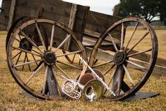 Oude het westen en bandinstrumenten Royalty-vrije Stock Afbeeldingen