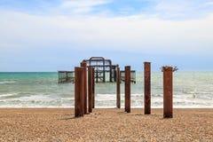 Oude het Westenpijler, Brighton stock afbeeldingen