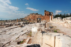 Oude hierapolis-Pamukkale. Turkije. Royalty-vrije Stock Foto's