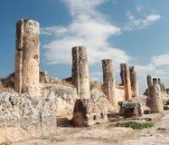 Oude hierapolis-Pamukkale. Turkije. Stock Fotografie