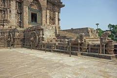 Oude Hindoese Tempel, Konark stock foto's