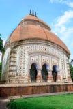 Oude Hindoese terracottatempels van verering van Bengalen met exemplaar stock foto's