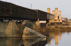 Oude, historische brug Stock Foto's