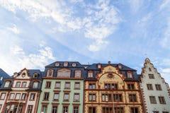 Oude historische gebouwen in Mainz, Duitsland Stock Afbeelding