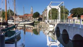 Oude historische haven van Enkhuizen Holland Royalty-vrije Stock Fotografie