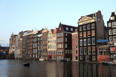 Oude historische huizen in Amsterdam. Royalty-vrije Stock Fotografie