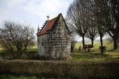 oude historische kapel van Schaloen-kasteel, Valkenburg Nederland Stock Foto's