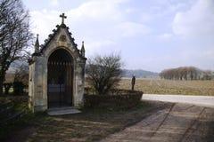 oude historische kapel van Schaloen-kasteel, Valkenburg Nederland Royalty-vrije Stock Afbeeldingen