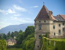 Oude historische kasteeltoren Stock Afbeeldingen