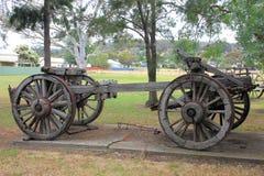 Oude historische paard getrokken wagen Stock Fotografie